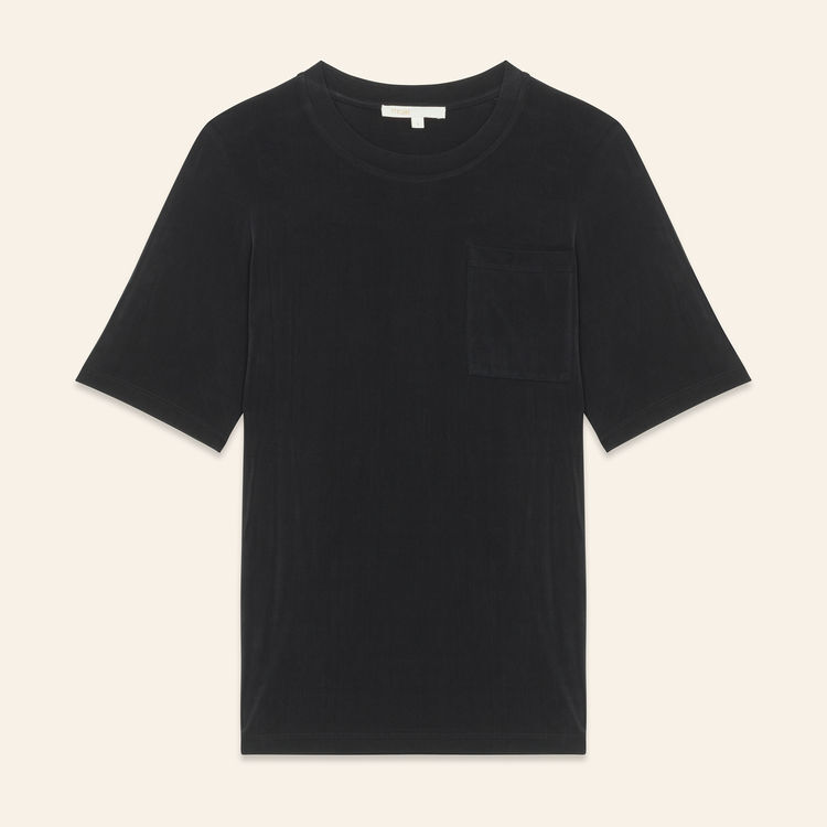 Camiseta de cupro : T-Shirts color Negro