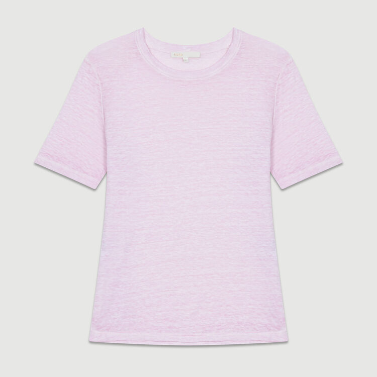 Top loose de lino : T-Shirts color LILAS