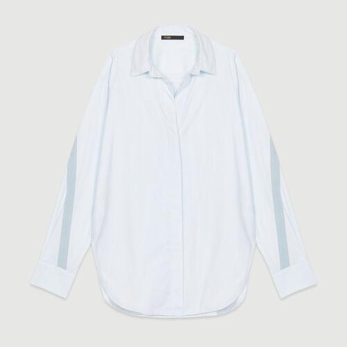 Blusa oversize con gros-grain : Camisas color Azul Celeste