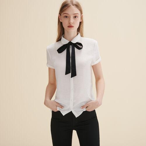 Camisa con pajarita - Tops - MAJE