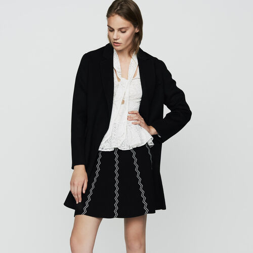 Abrigo de lana doble faz : Prêt-à-porter color Negro