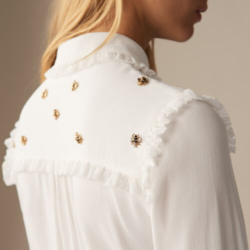 Camisa con abejas bordadas : Camisas color Blanco