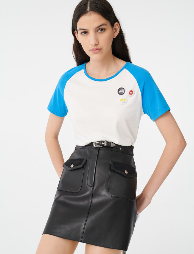 Camiseta con mangas en contraste - T-Shirts - MAJE