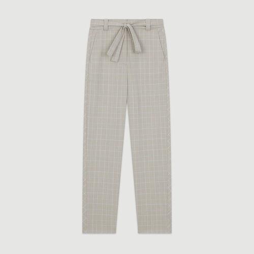 Pantalón de cuadros ceñido : Pantalones y Jeans color Carreaux