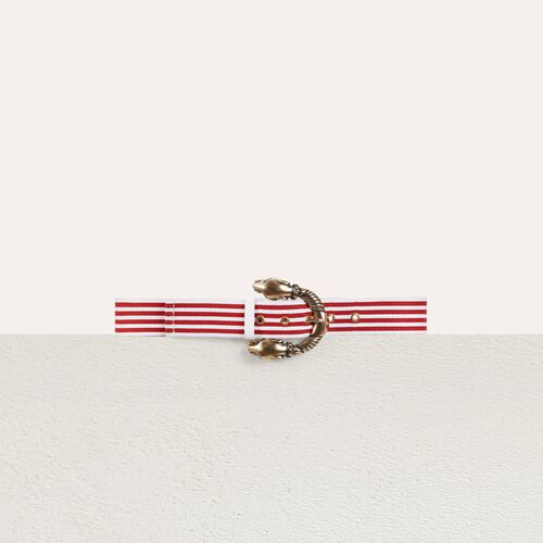 Striped belt : Cinturones color Rojo