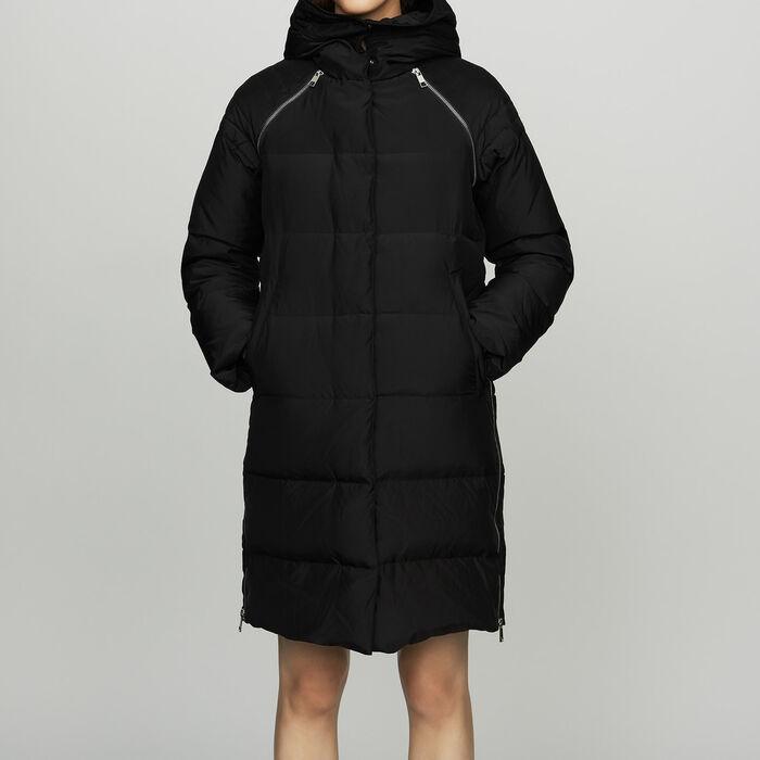 Chaqueta de plumón con capucha : Abrigos color Negro