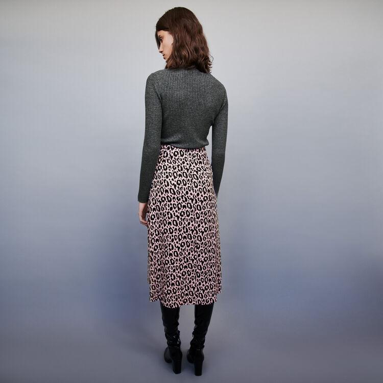 Falda endida estampada en Jacquard : Faldas y shorts color Rosa