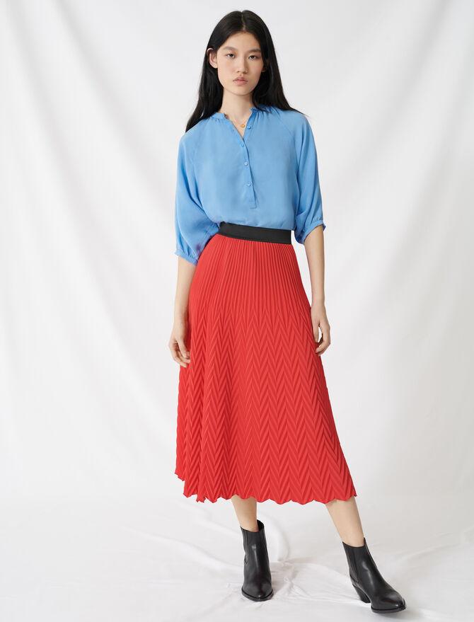 Jupe longue à plissé chevron - Faldas y shorts - MAJE
