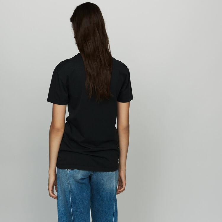 Camiseta de algodón estampada : T-Shirts color Blanco