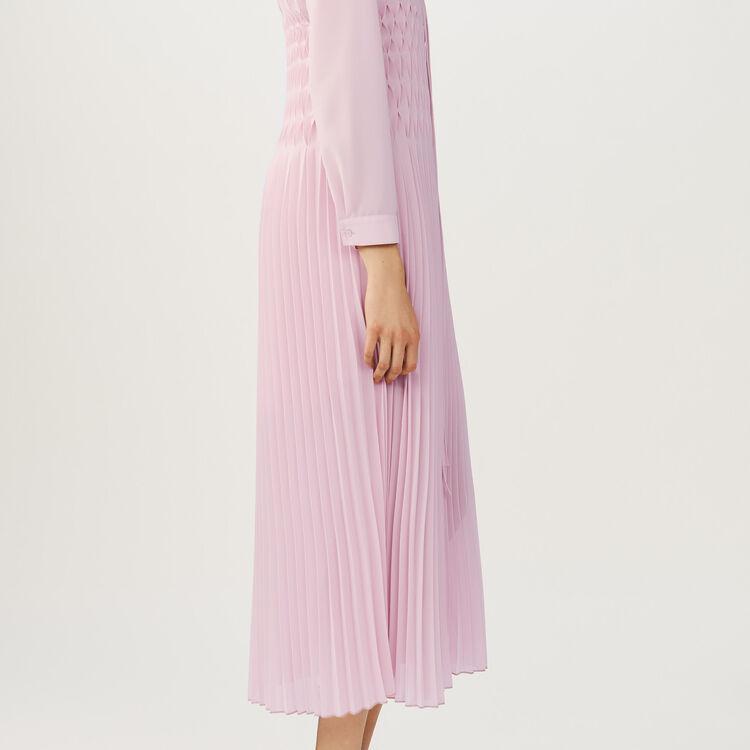 Vestido sin mangas plisado con volantes : Vestidos color LILA