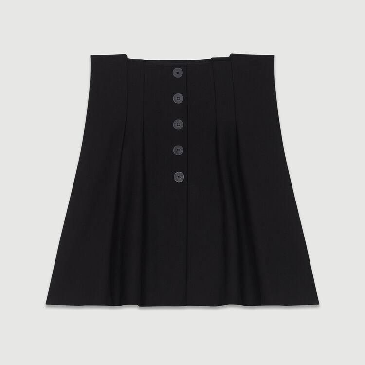 Falda corta con juegos de pliegues : Nueva Colección color Negro