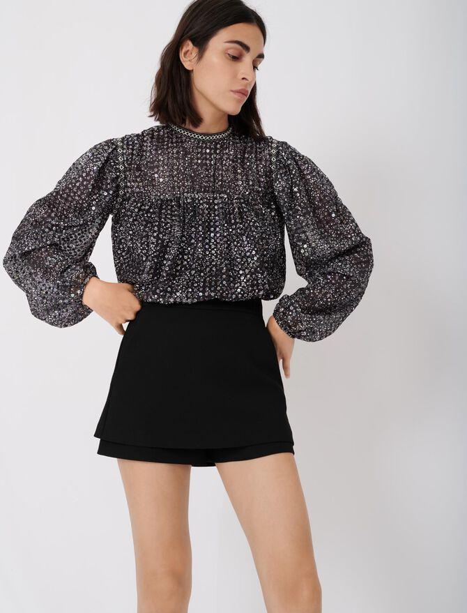 Short-jupe en crêpe - Faldas y shorts - MAJE