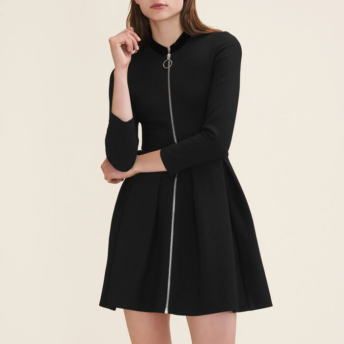 Vestido con cremallera : Vestidos color Negro