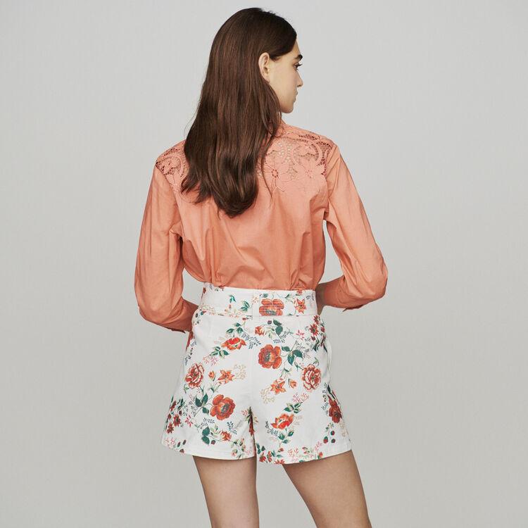Short denim estampado floral : Faldas y shorts color IMPRIME