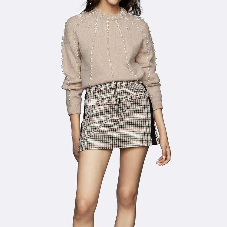 Jersey oversize de lana mezclada : Malla color Beige