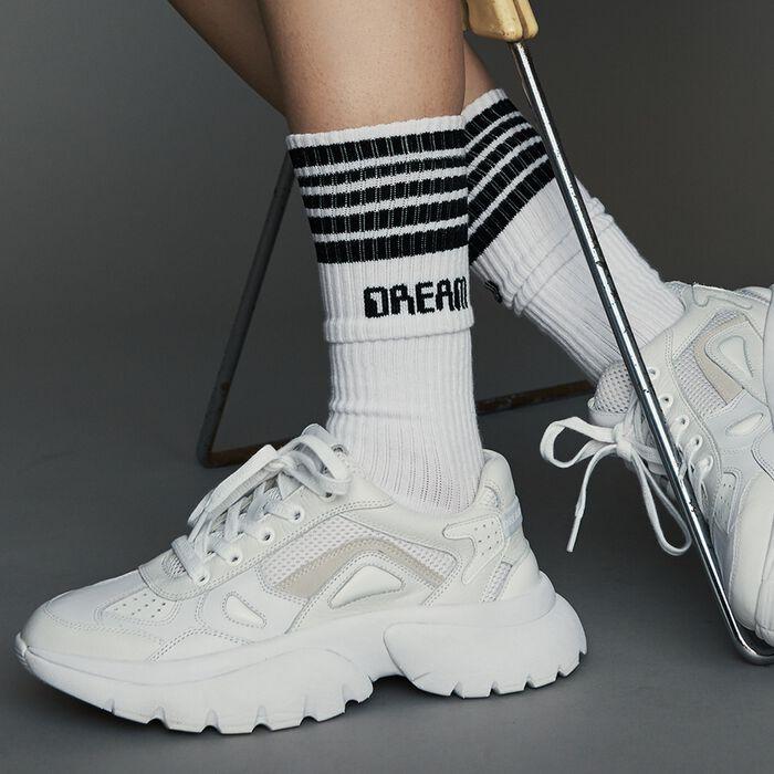 Calcetines tipo urbano en algodón : Gift with purchase color Blanco