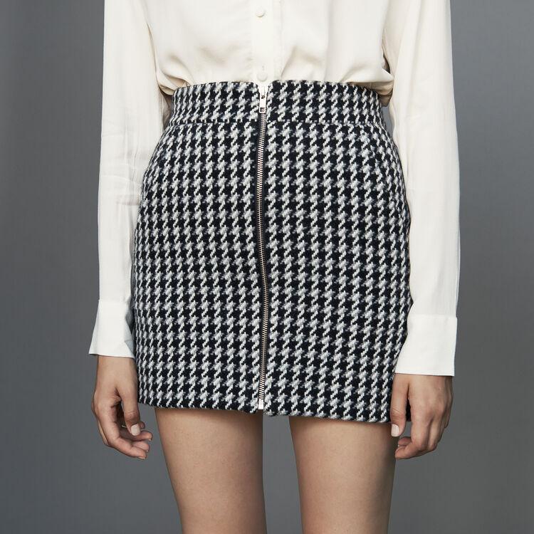Falda corta pata de gallo : Faldas y shorts color Jacquard
