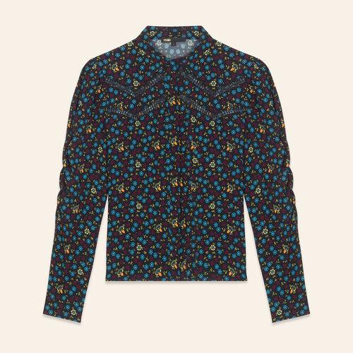 Camisa con estampado floral - Camisas - MAJE