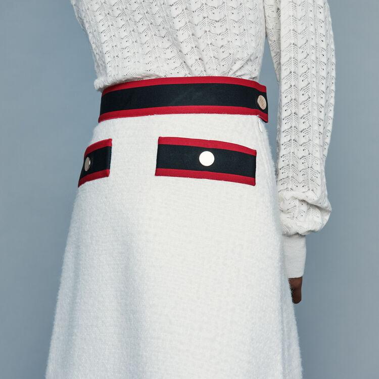 Falda corta de tweed : Faldas y shorts color Crudo