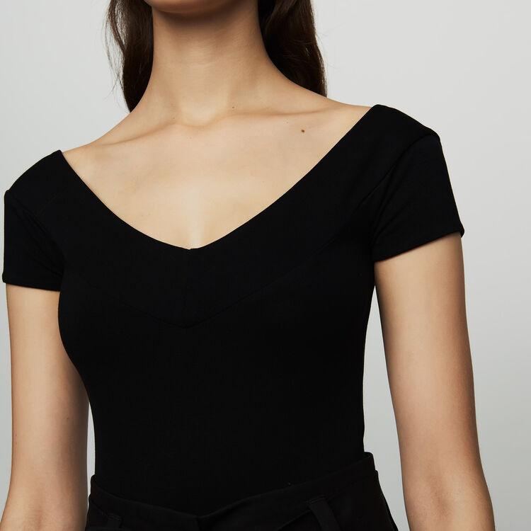 Body de manga corta : Prêt-à-porter color Negro