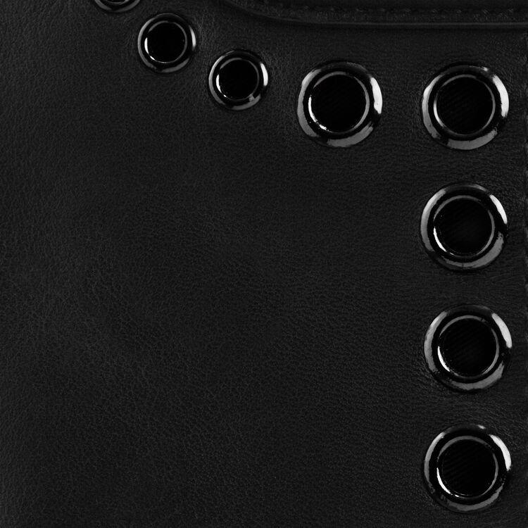 Bolso M de piel con ojales y flecos : categorías color