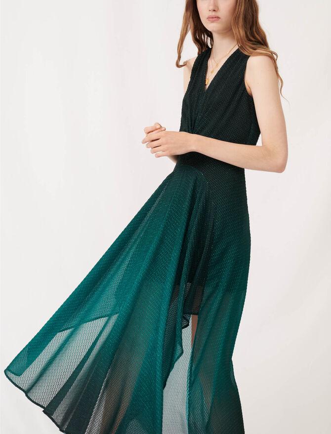 Vestido pañuelo de jacquard estampado - Vestidos - MAJE