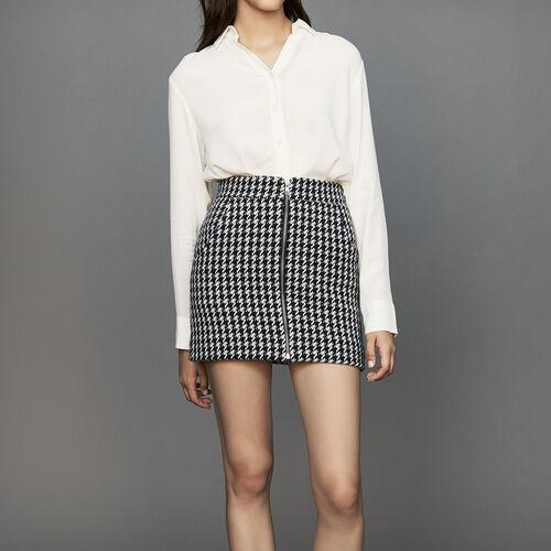 Falda corta pata de gallo : Office girl color Jacquard