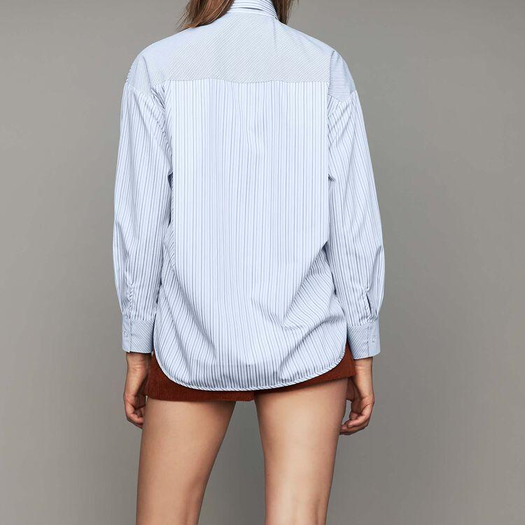 Camisa de rayas en algodón : Camisas color Rayas