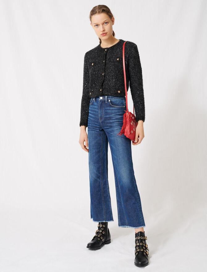 Vaquero ancho de talle alto - Pantalones y Jeans - MAJE