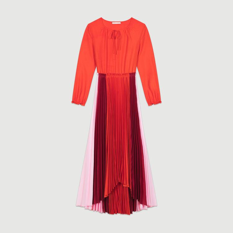 Vestido camisero plisado multicolor : Vestidos color Multicolor