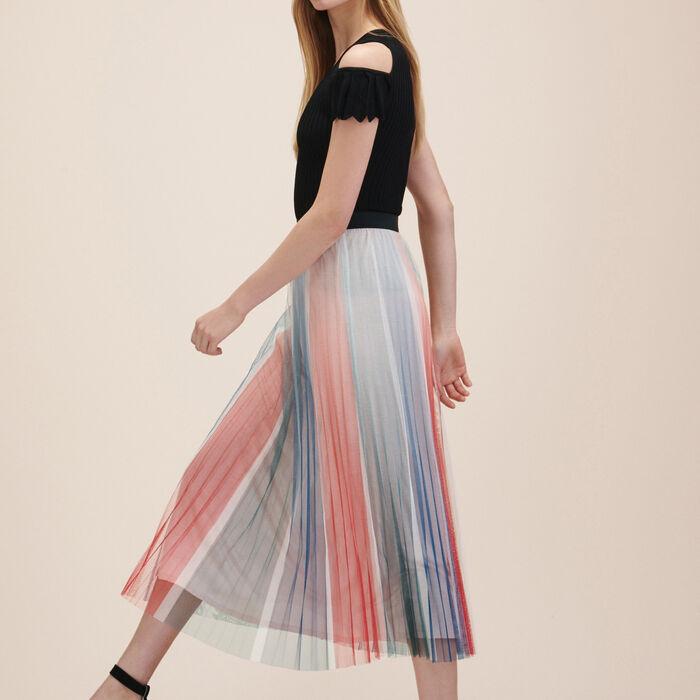 Falda plisada de largo medio - PLISADO - MAJE