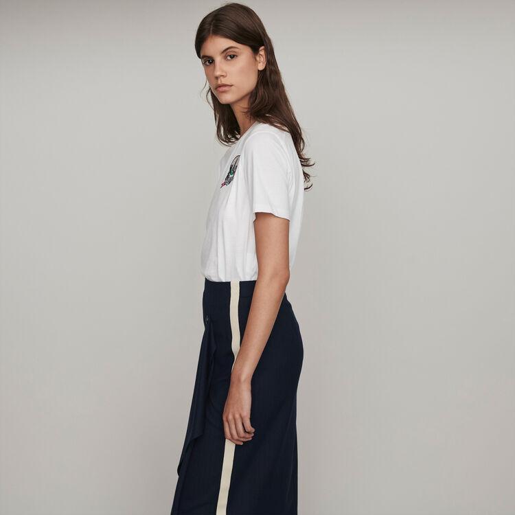 Camiseta bordada : T-Shirts color Blanco