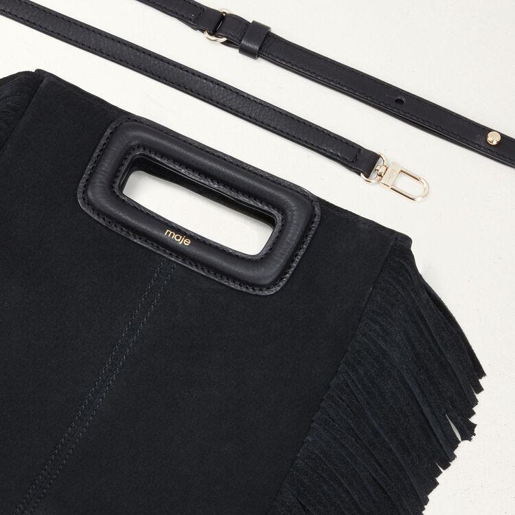 Bolso M de cuero de gamuza : Bolsos M color Negro