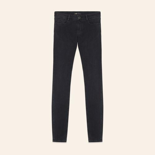 Vaquero ceñido de algodón stretch - Jeans - MAJE