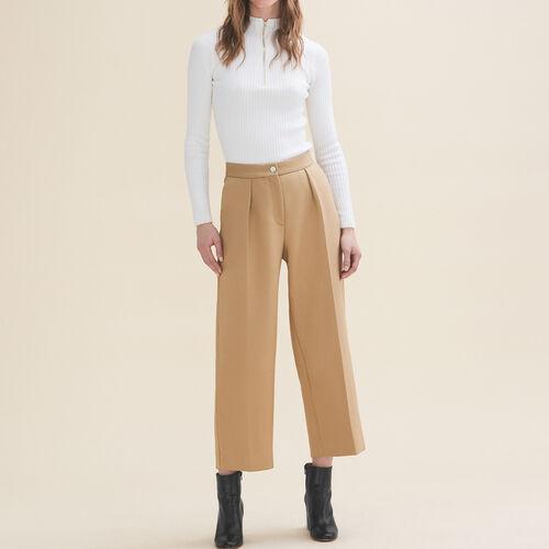 Pantalón de sastre ancho : Pantalones y vaqueros color Camel