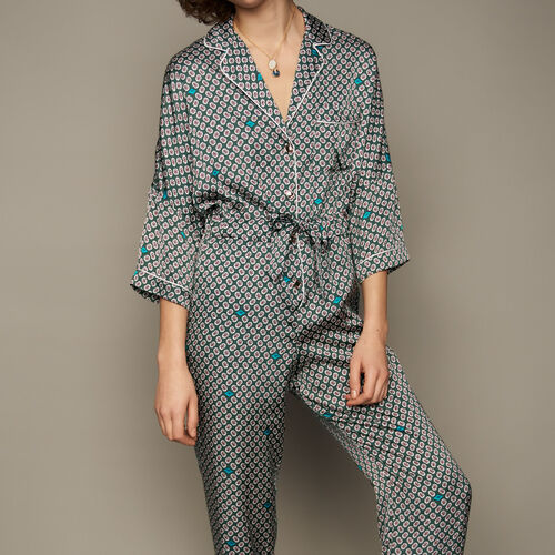 Printed sateen overall : Pantalones color IMPRIME