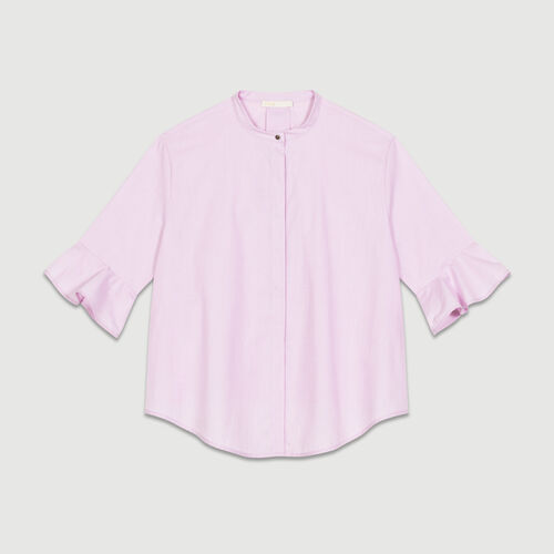 Camisa oversize de popelina : staff private sale color Rosa
