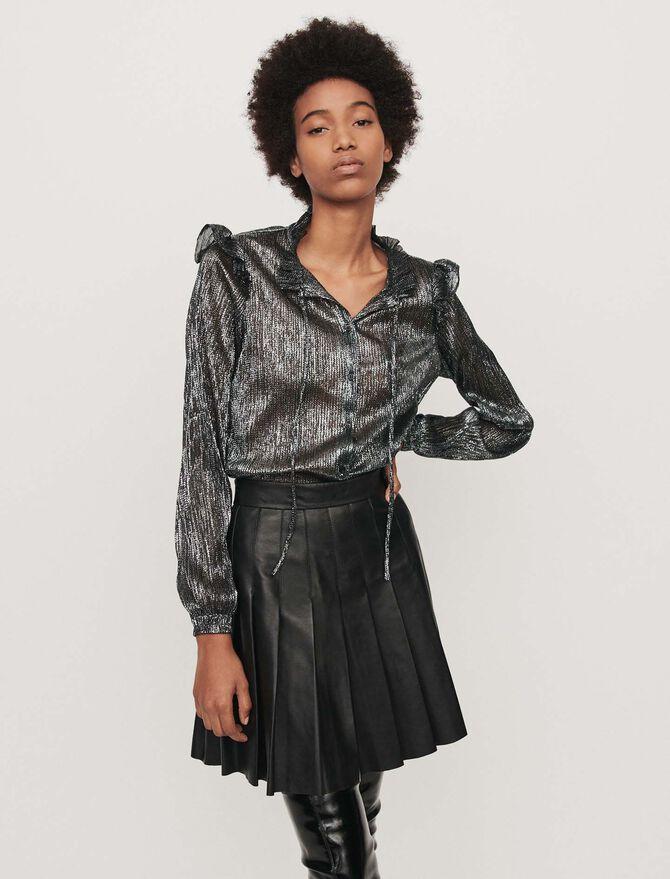 Blusa avolantada en lurex - Tops y Camisas - MAJE