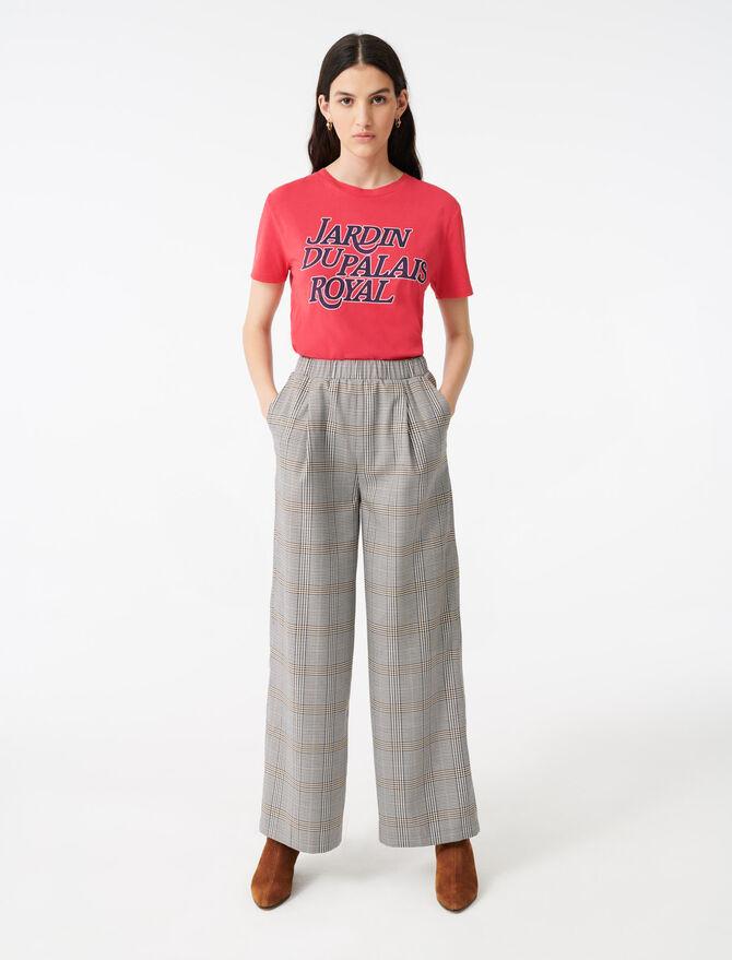 Pantalón ceñido de cuadros - Pantalones y Jeans - MAJE