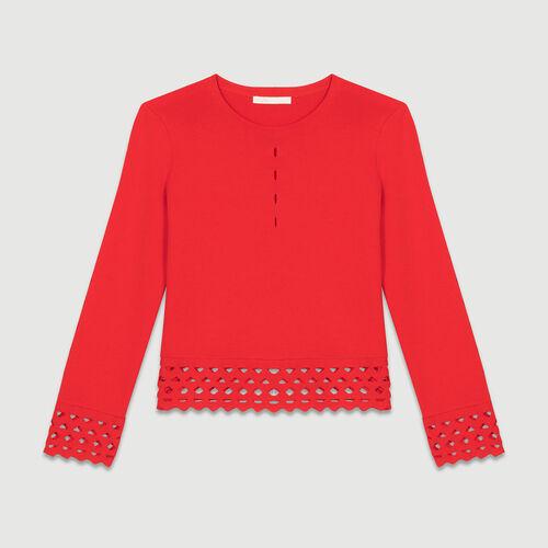 Jersey con detalles calados : Malla color ROUGE