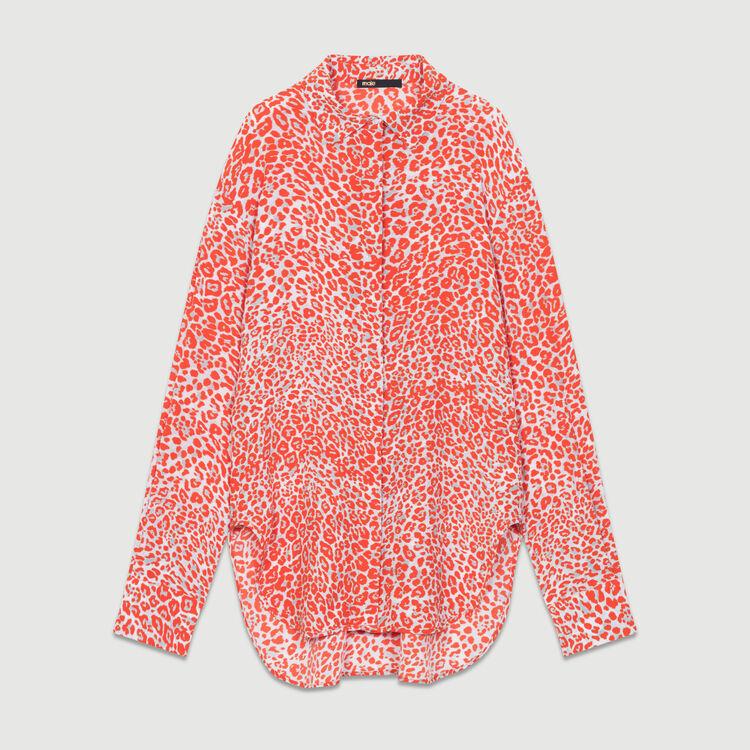 Blusa estampado leopardo : Camisas color IMPRIME
