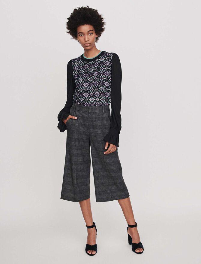 Falda pantalón de cuadros - Midseason-Sales_IE_Bestsellers - MAJE