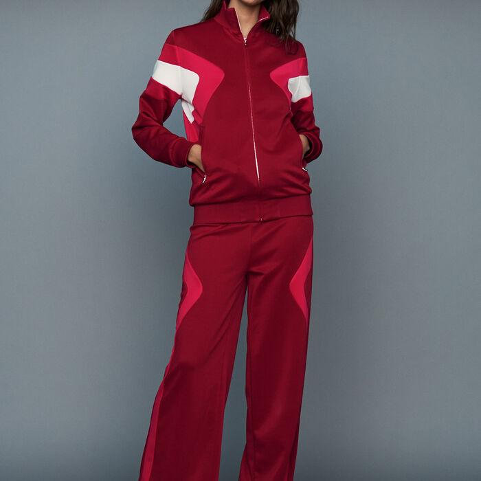 Pantalón de jogging : Prêt-à-porter color Frambuesa