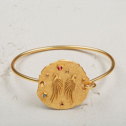 Pulsera con medalla martillada - Bisuteria - MAJE