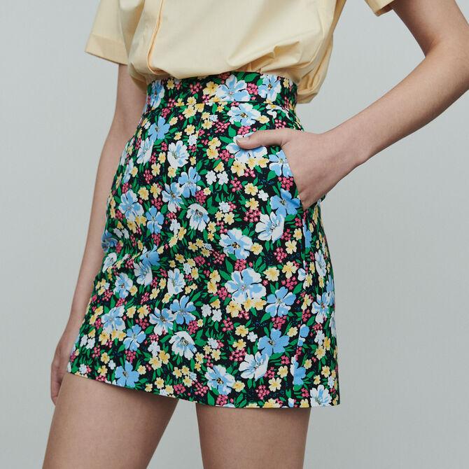 Falda corta estampado floral - Ver todo - MAJE