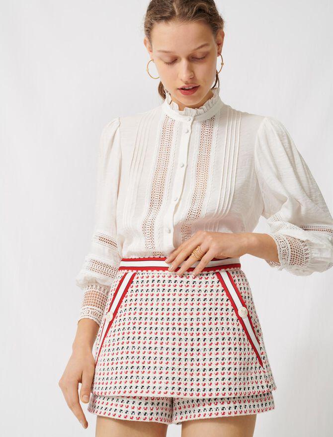 Falda-pantalón corta de tweed - Faldas y shorts - MAJE