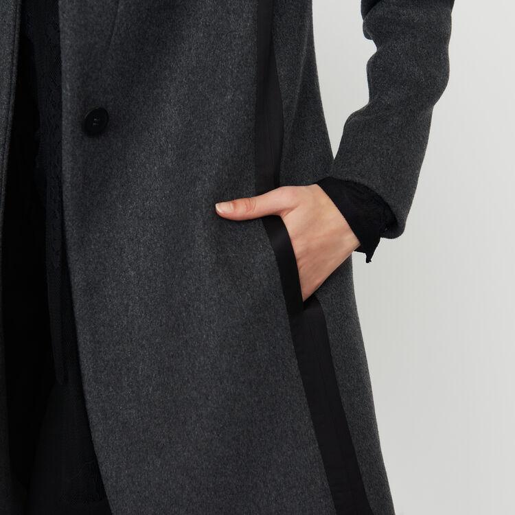 Abrigo recto bordeado con raso : Abrigos color Antracita