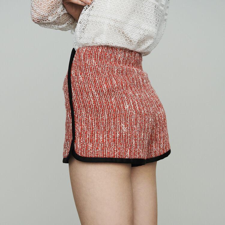 Short tipo tweed : Faldas y shorts color Rojo