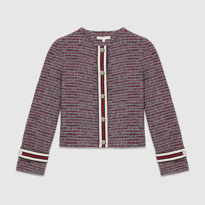 Chaqueta tweed de algodón : Chaquetas color Jacquard