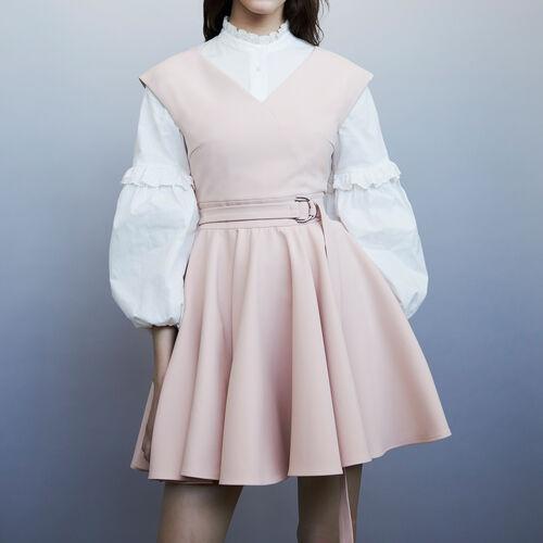 Sleeveless skater dress : Vestidos color Rosa
